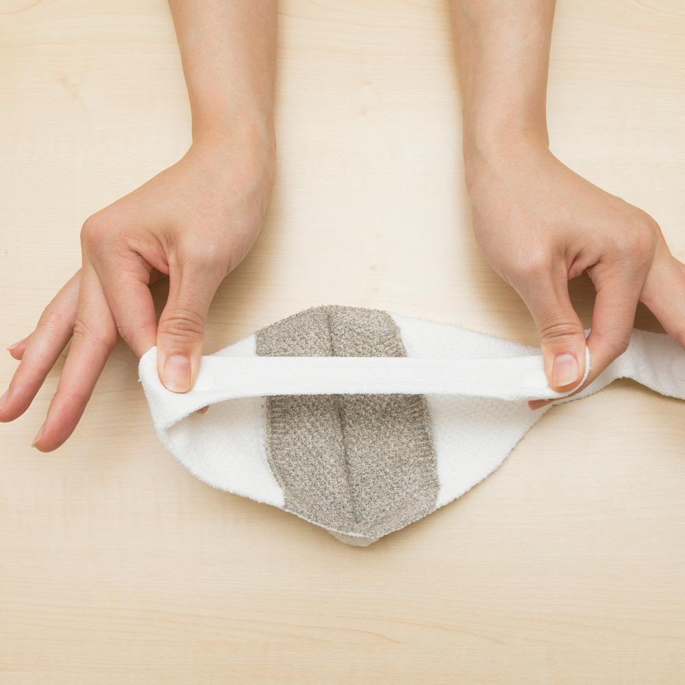 立体編みによる極上のフィット感と伸縮性